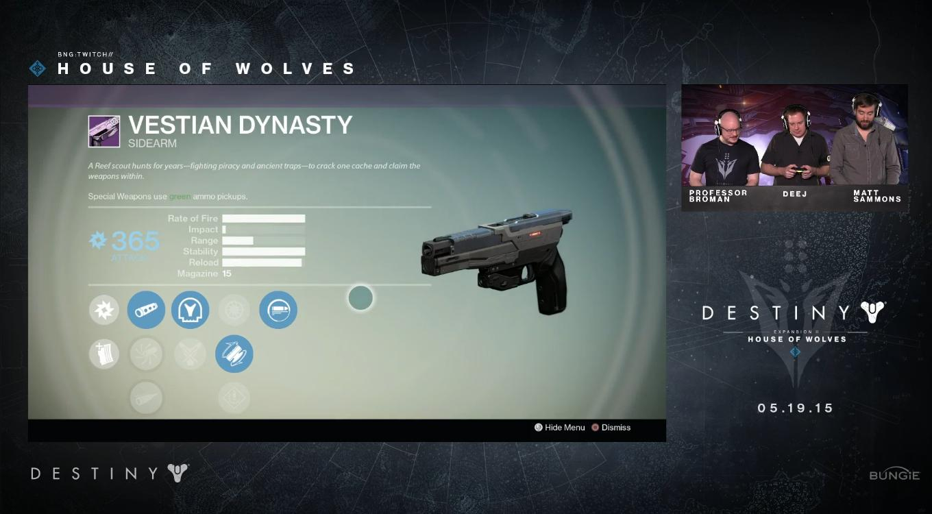 Best destiny primary weapons as of july 2015 - Ves